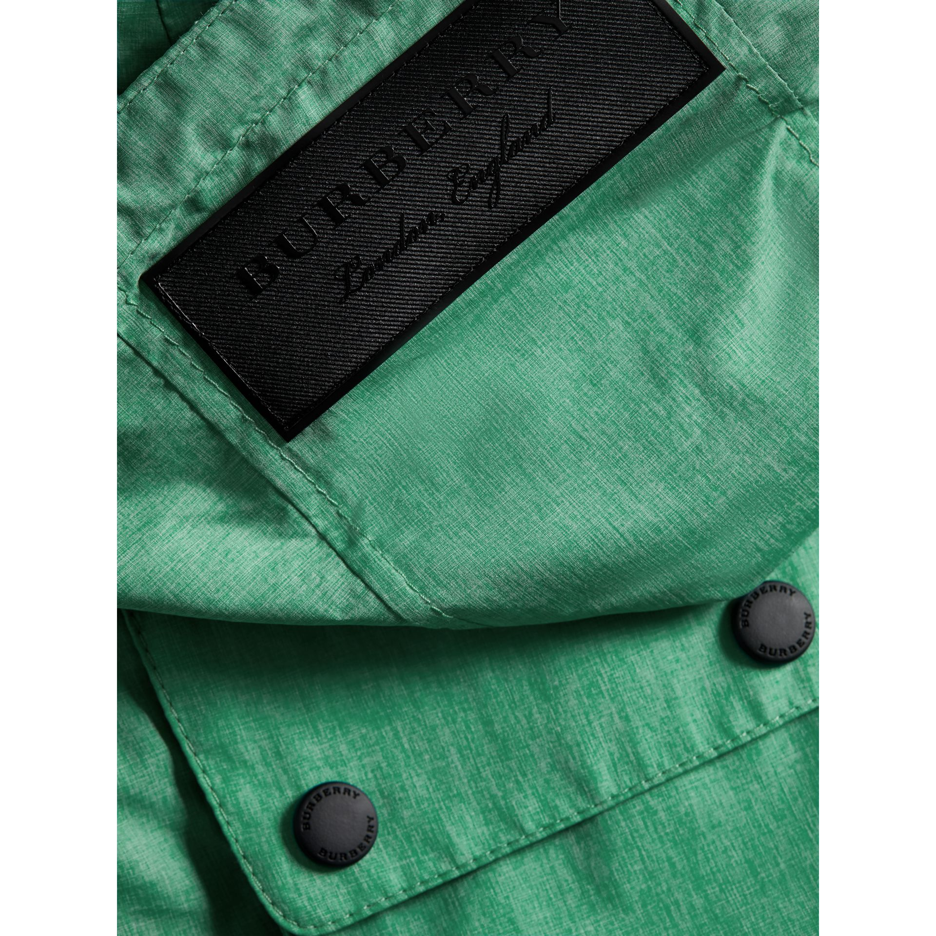 Showerproof Hooded Jacket in Vibrant Green - Boy | Burberry United States - gallery image 1