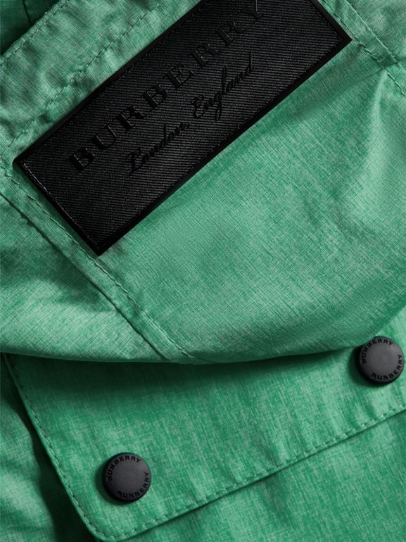 Showerproof Hooded Jacket in Vibrant Green - Boy | Burberry - cell image 1