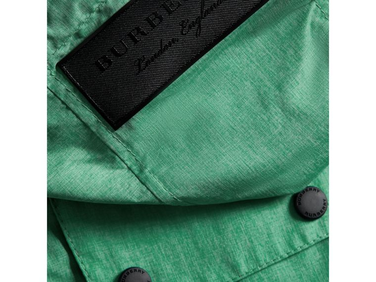 Showerproof Hooded Jacket in Vibrant Green - Boy | Burberry United States - cell image 1