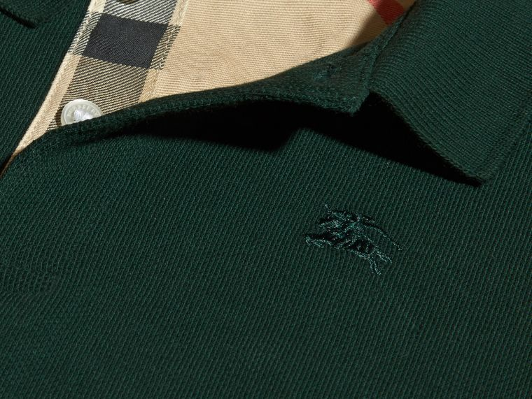 Racing green Check Placket Polo Shirt Racing Green - cell image 1