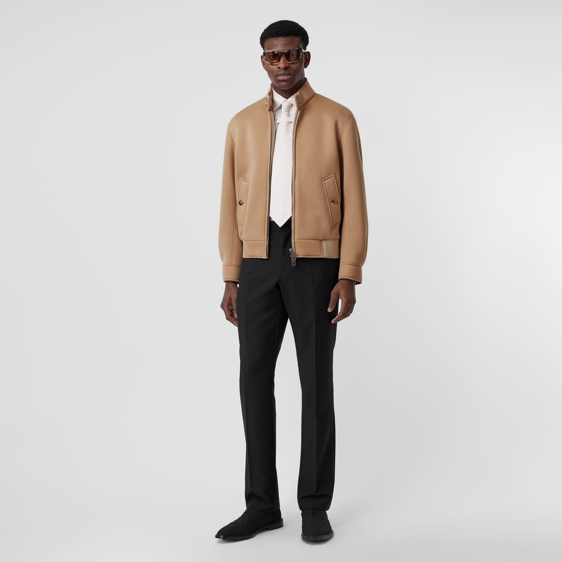 Neoprene Harrington Jacket in Beige | Burberry - gallery image 0