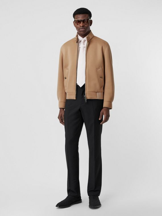 Giacca Harrington in neoprene (Beige)
