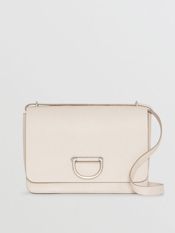 The Medium Leather D-ring Bag in Stone