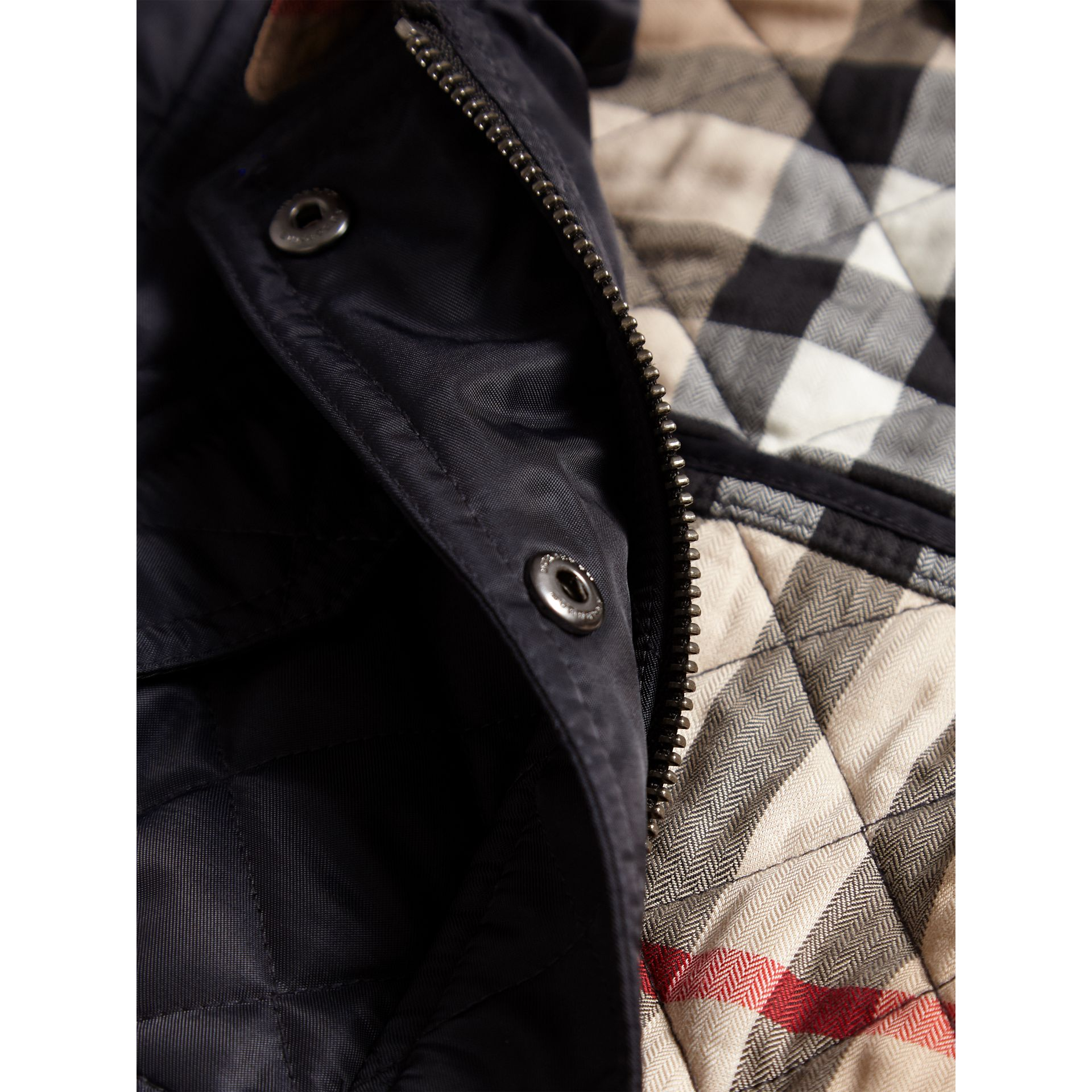 Quilted Field Jacket in Navy - Girl | Burberry - gallery image 2