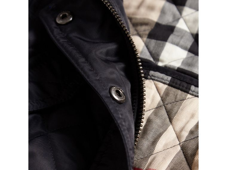 Quilted Field Jacket in Navy - Girl | Burberry - cell image 1