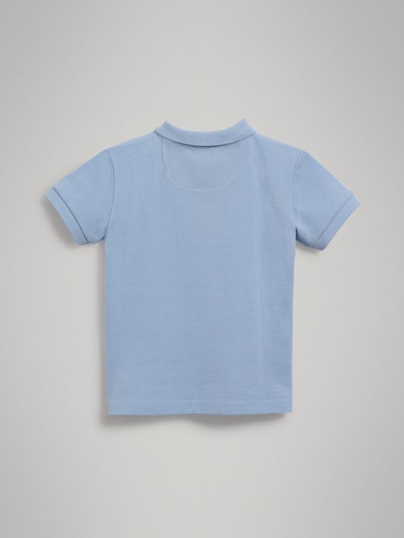 Check Placket Polo Shirt in Sky Blue - Boy | Burberry Australia - cell image 3
