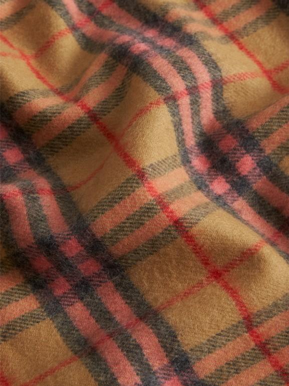 Check Cashmere Baby Blanket in Golden Peach - Children | Burberry Australia - cell image 1