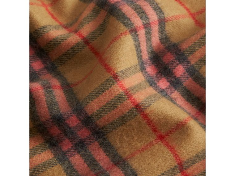 Check Cashmere Baby Blanket in Golden Peach | Burberry Australia - cell image 1