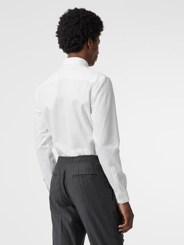 Modern Fit Cotton Shirt in White - Men | Burberry Singapore - cell image 2