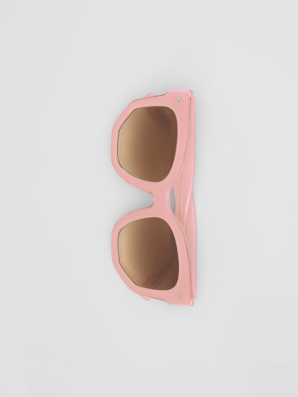 Geometric Frame Sunglasses in Pink - Women | Burberry Australia - cell image 3