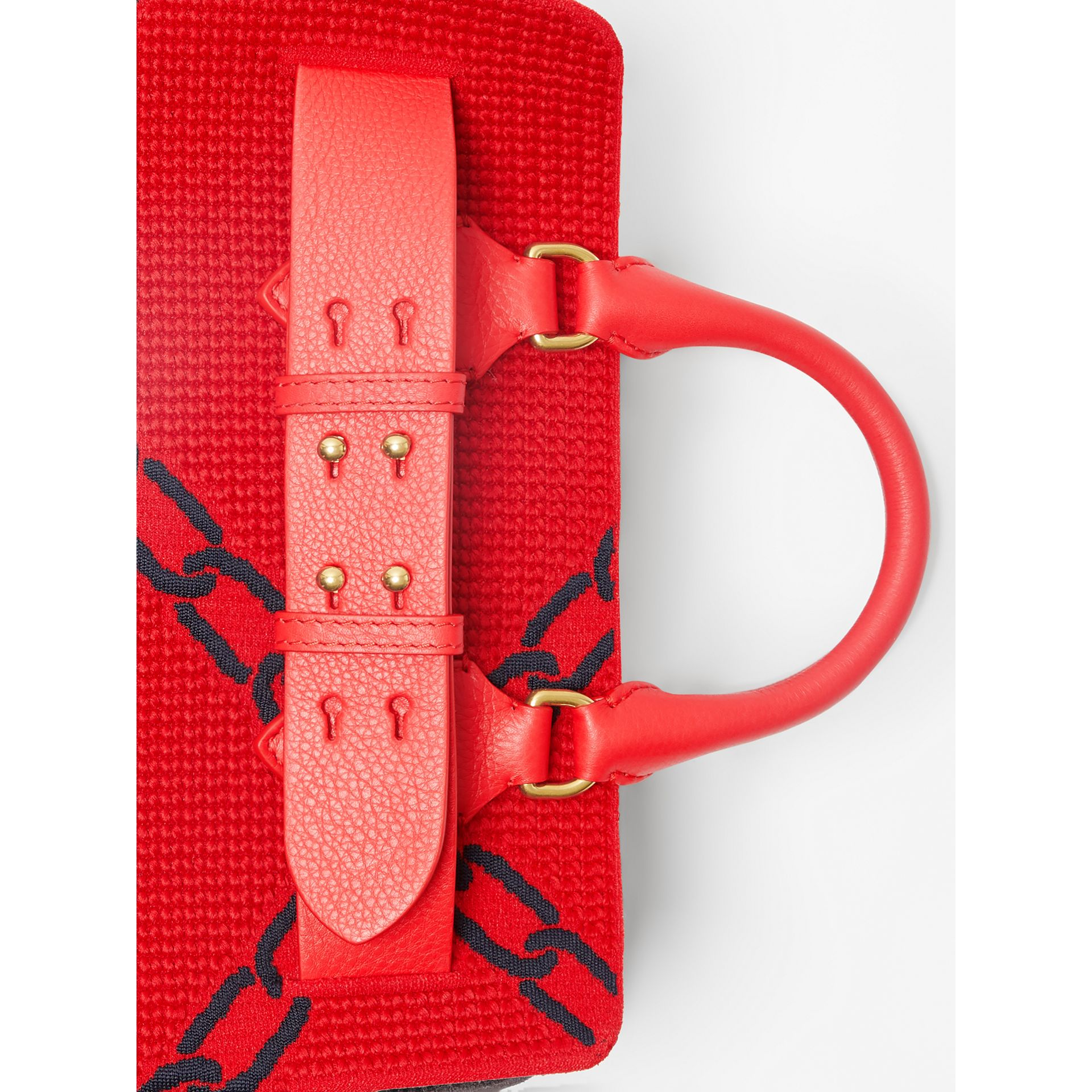 The Small Belt Bag mit Kettenmuster in Strickoptik (Leuchtendes Rot/blau) - Damen | Burberry - Galerie-Bild 1