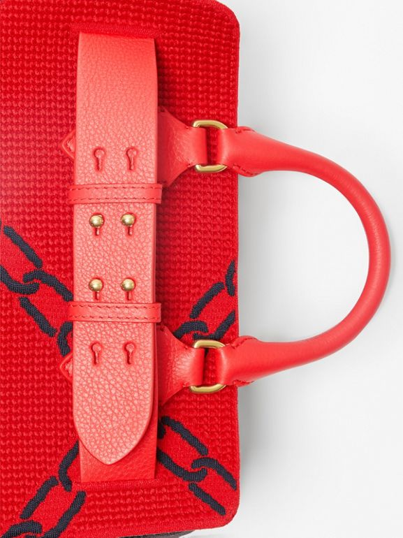 The Small Knitted Link Belt Bag in Bright Red/blue - Women | Burberry - cell image 1