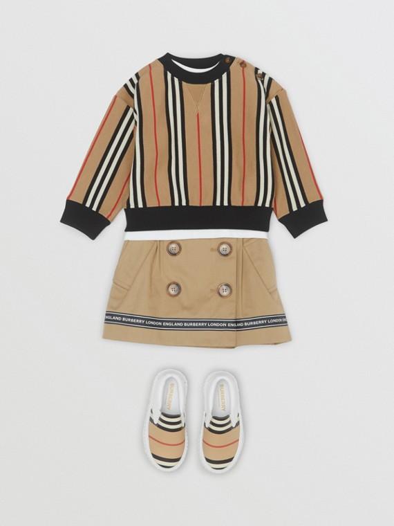 Sweatshirt aus Baumwolle mit Streifenmuster (Vintage-beige)