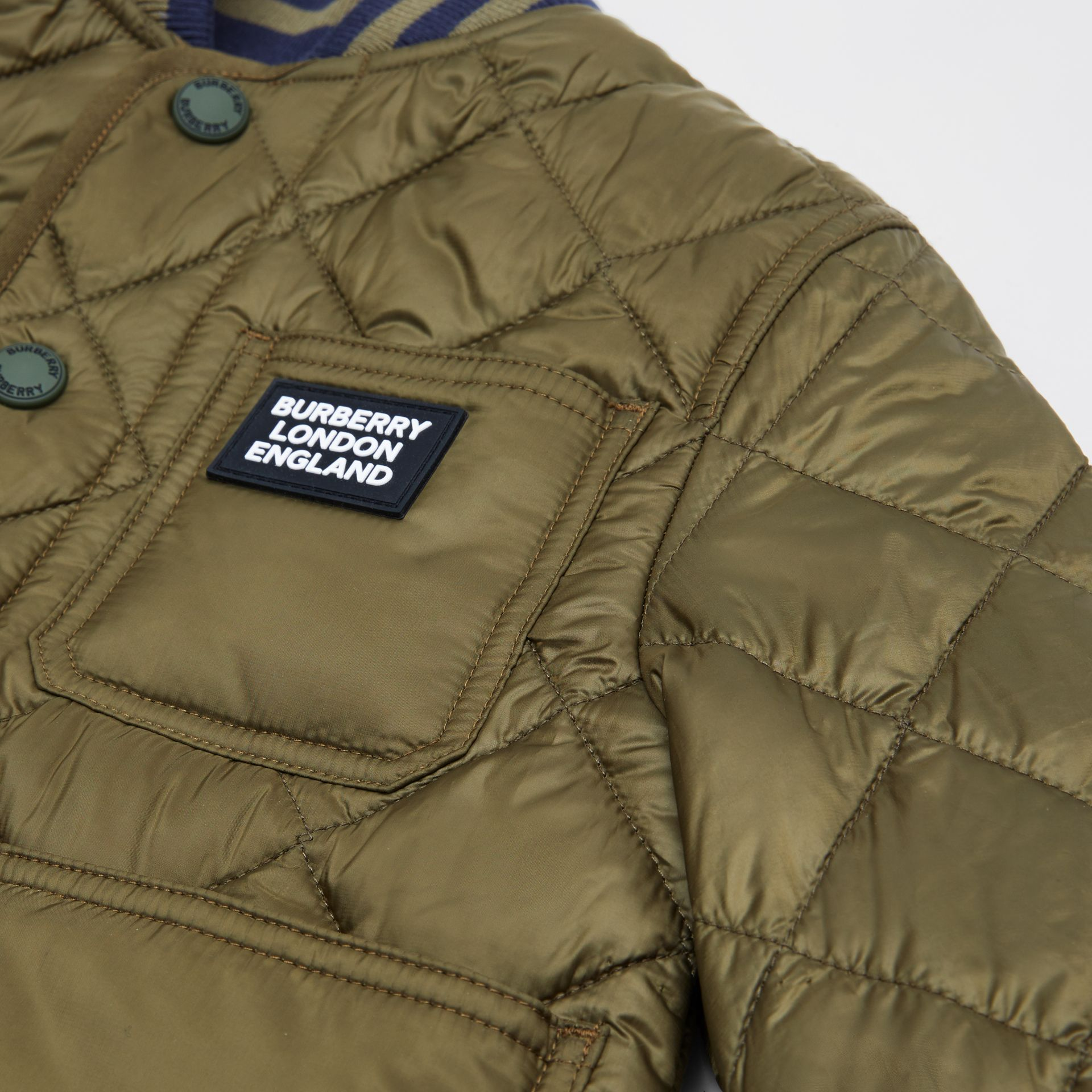 Recycled Polyester Diamond Quilted Jacket in Oregano | Burberry United Kingdom - gallery image 1