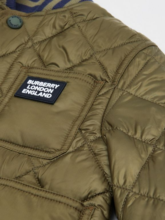 Recycled Polyester Diamond Quilted Jacket in Oregano | Burberry - cell image 1