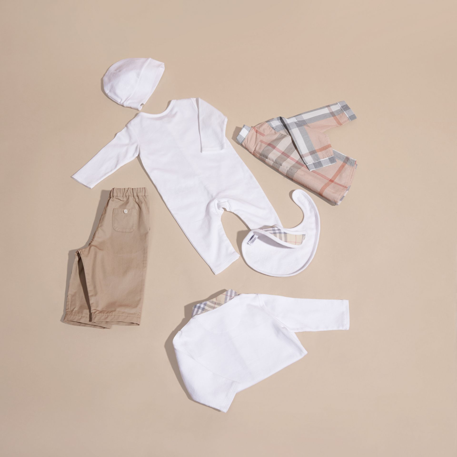 Cotton Six-piece Baby Gift Set in White - Children | Burberry - gallery image 6