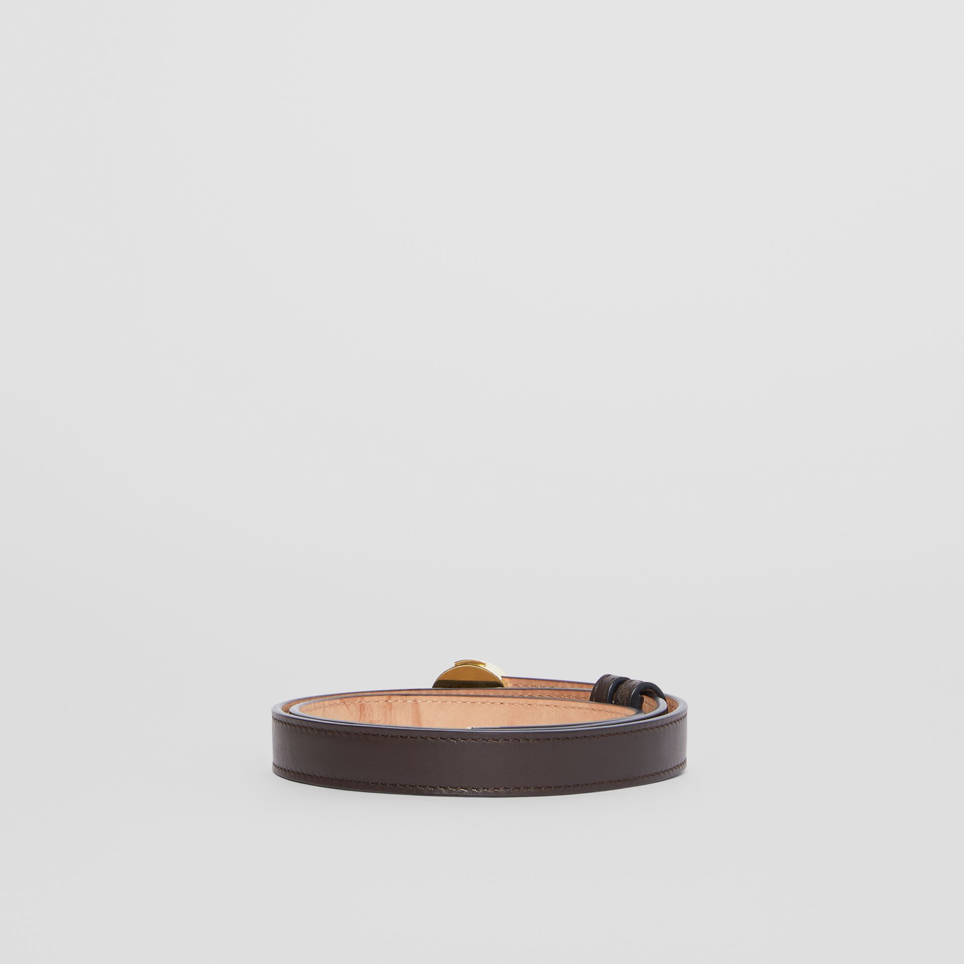 Ceinture en cuir Monogram (Brun Intense) - Femme | Burberry - photo de la galerie 4