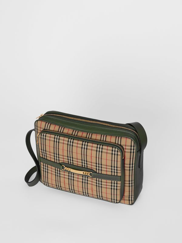 The Large 1983 Check Link Camera Bag in Dark Forest Green | Burberry - cell image 2