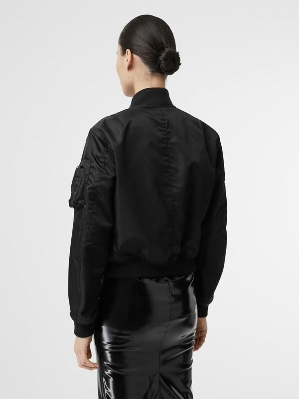 Bomber en nylon à motif Union Jack (Noir) - Femme | Burberry Canada - cell image 2