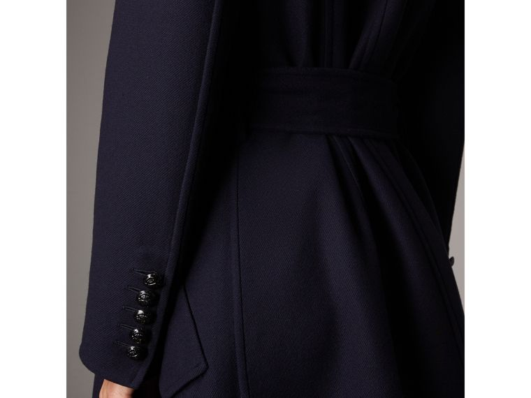 Double-faced Wool Cashmere Wrap Coat in Navy - Women | Burberry Australia - cell image 1