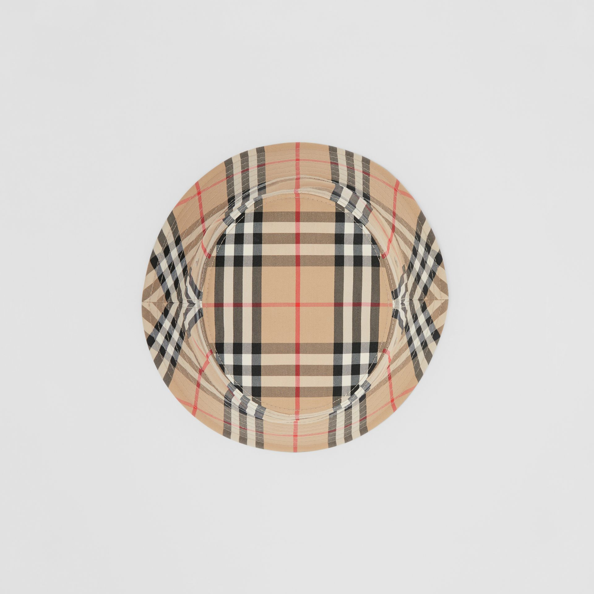 Vintage Check Cotton Blend Bucket Hat in Archive Beige | Burberry - gallery image 4