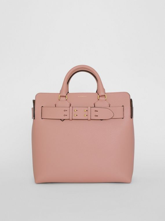 Borsa The Belt media in pelle (Rosa Cenere)