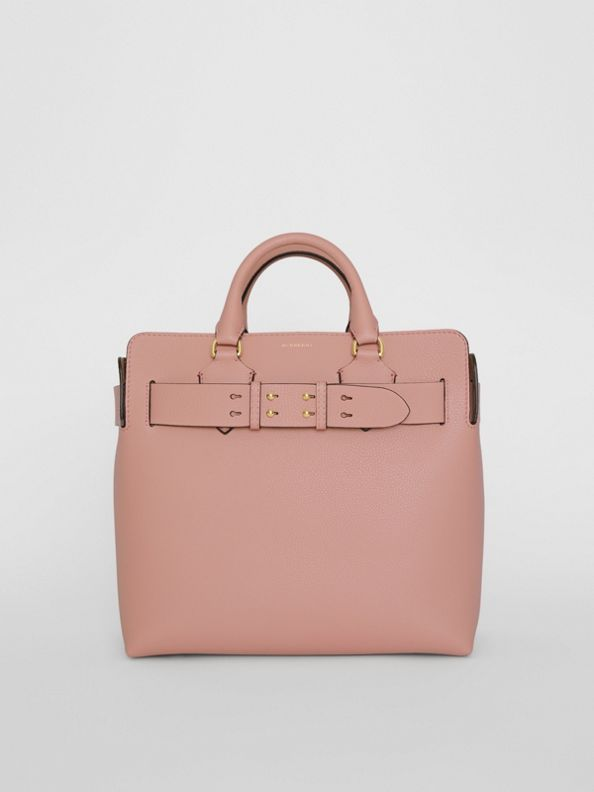 The Medium Leather Belt Bag in Ash Rose