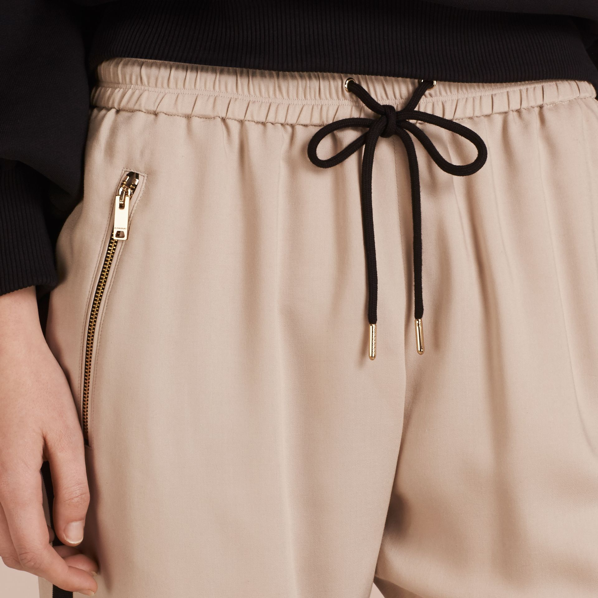 Zip Detail Jersey Sweat Pants Stone - gallery image 5