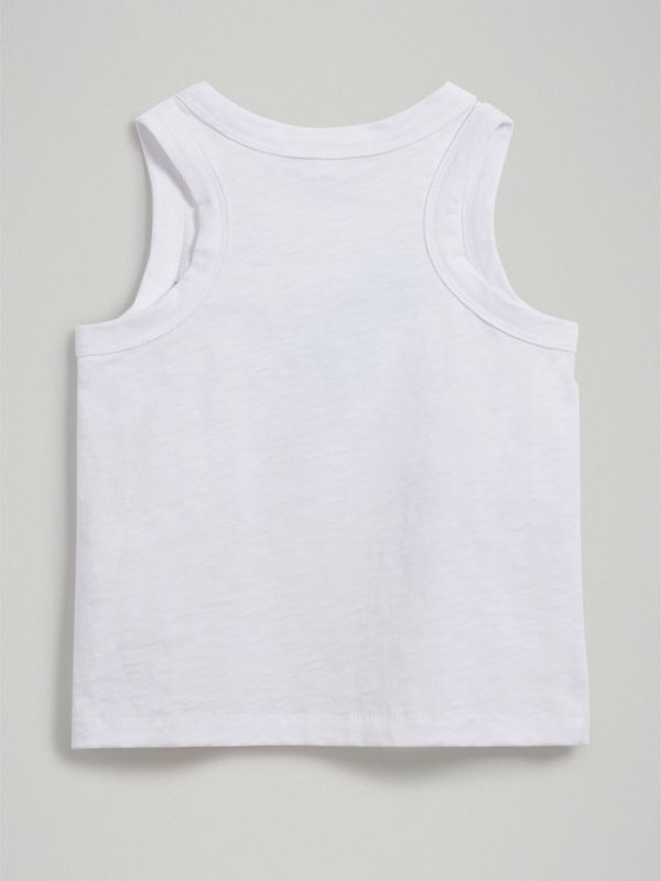 Ice-cream Print Cotton Jersey Vest in White - Girl | Burberry United Kingdom - cell image 3