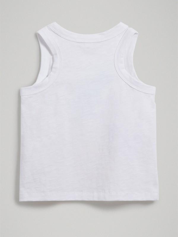Camiseta de tirantes en tejido jersey de algodón con estampado de helado (Blanco) - Niña | Burberry - cell image 3