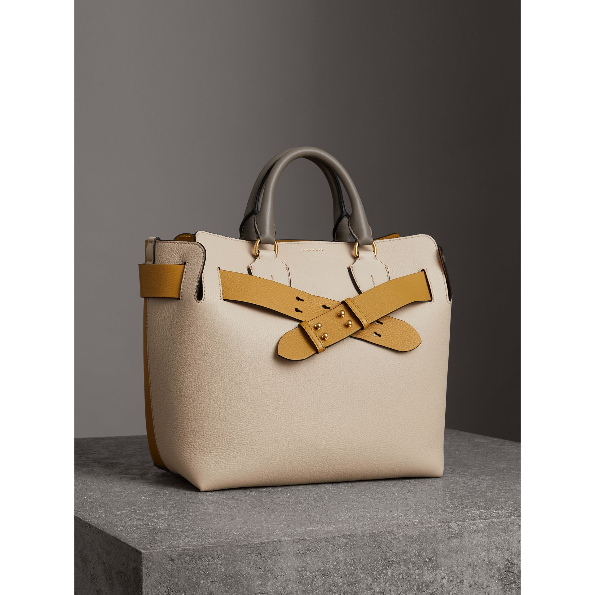 The Medium Tri-tone Leather Belt Bag in Limestone/cornflower Yellow - Women | Burberry United Kingdom - gallery image 6