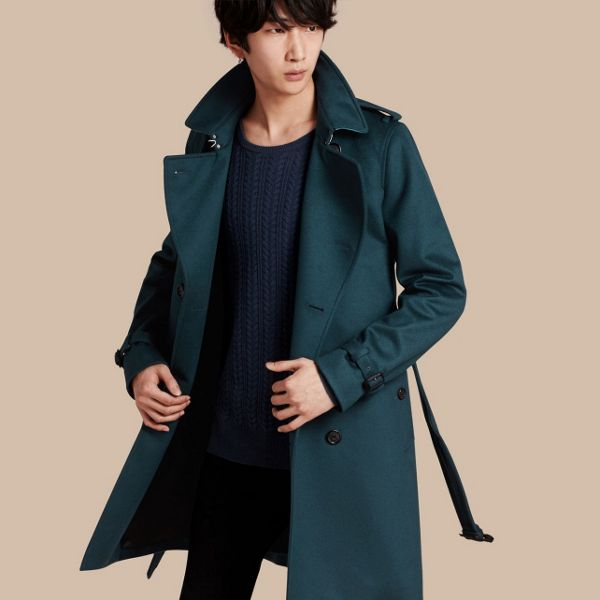 Men's seasonal trench coats