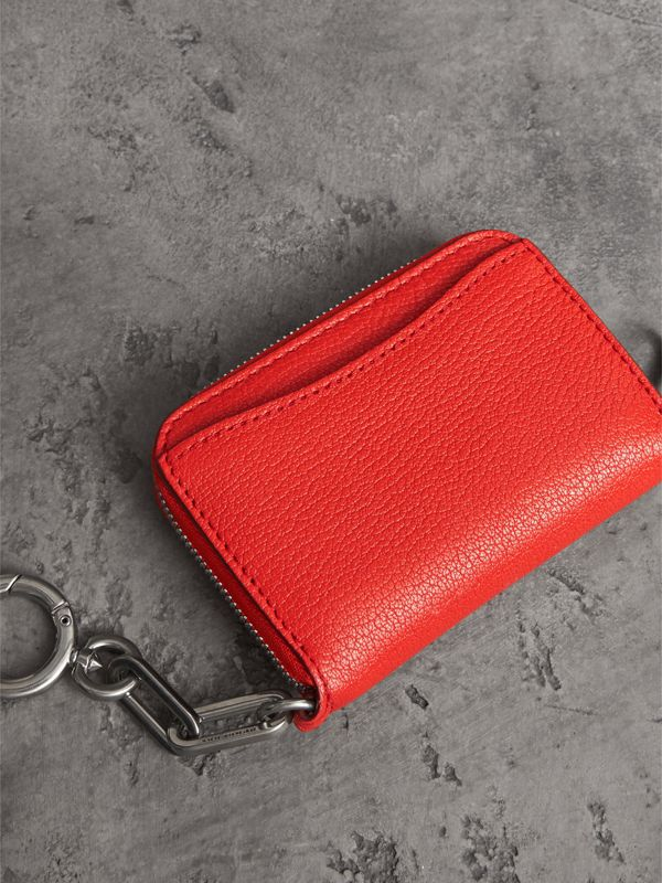 Link Detail Leather Ziparound Wallet in Bright Red | Burberry - cell image 3