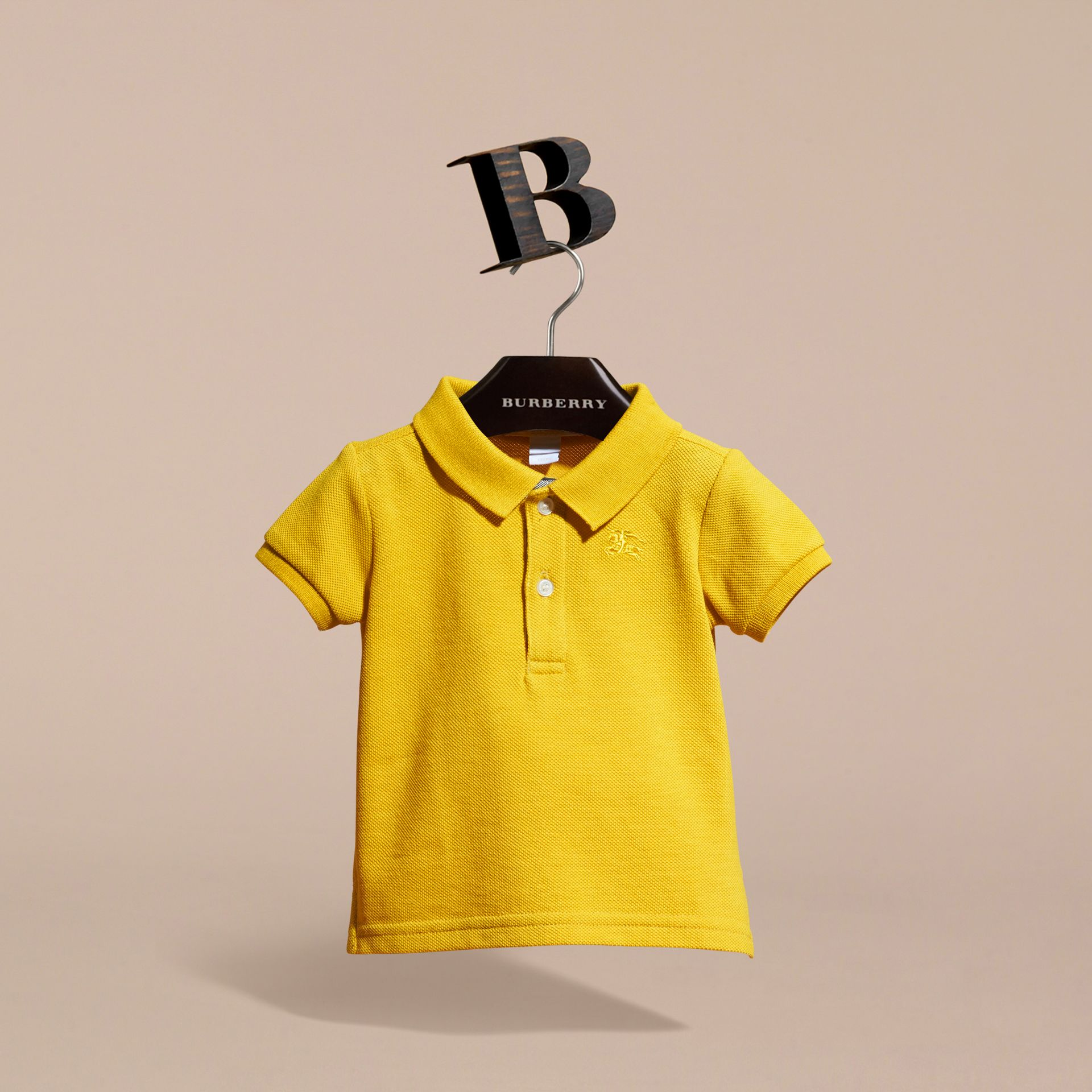 Check Placket Polo Shirt | Burberry - gallery image 3