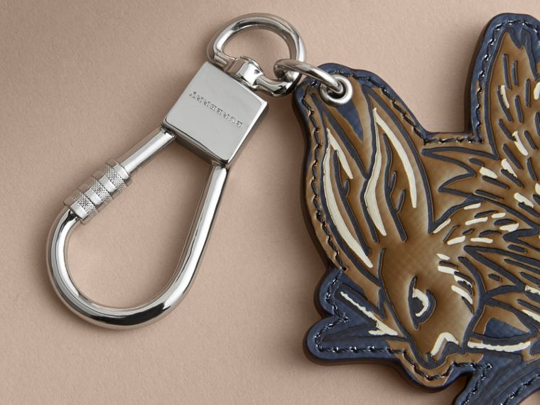 Beasts Leather Key Ring in Tan - cell image 1