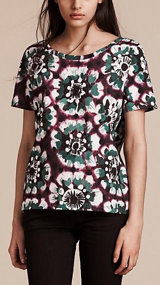 T-shirt en coton à imprimé tie and dye