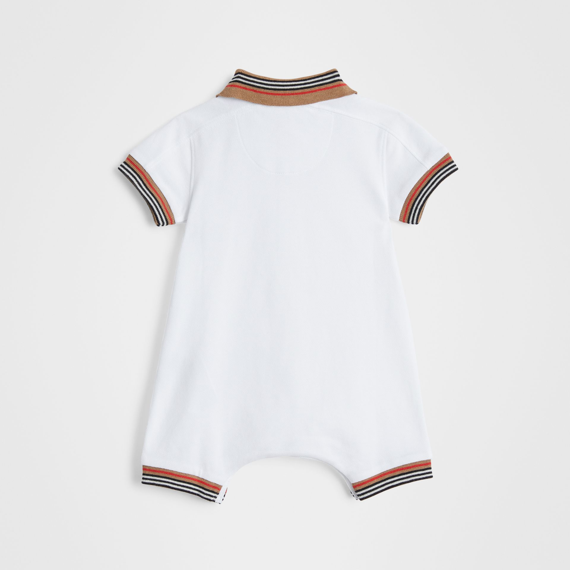 Icon Stripe Cotton Piqué Two-piece Baby Gift Set in White - Children | Burberry Hong Kong - gallery image 3