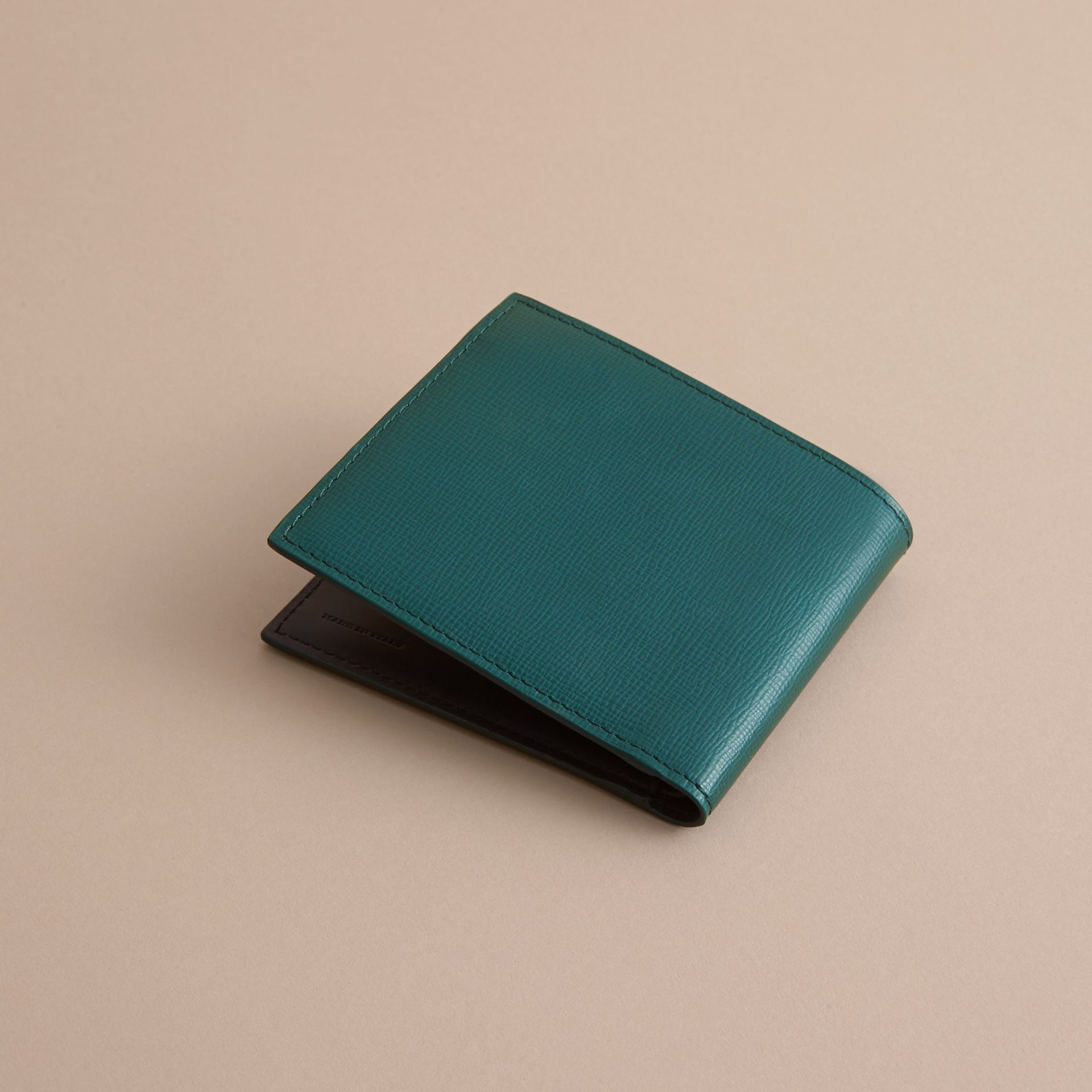 London Leather International Bifold Wallet Dark Teal - gallery image 4