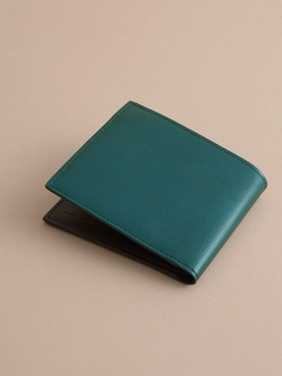 London Leather International Bifold Wallet Dark Teal - cell image 3