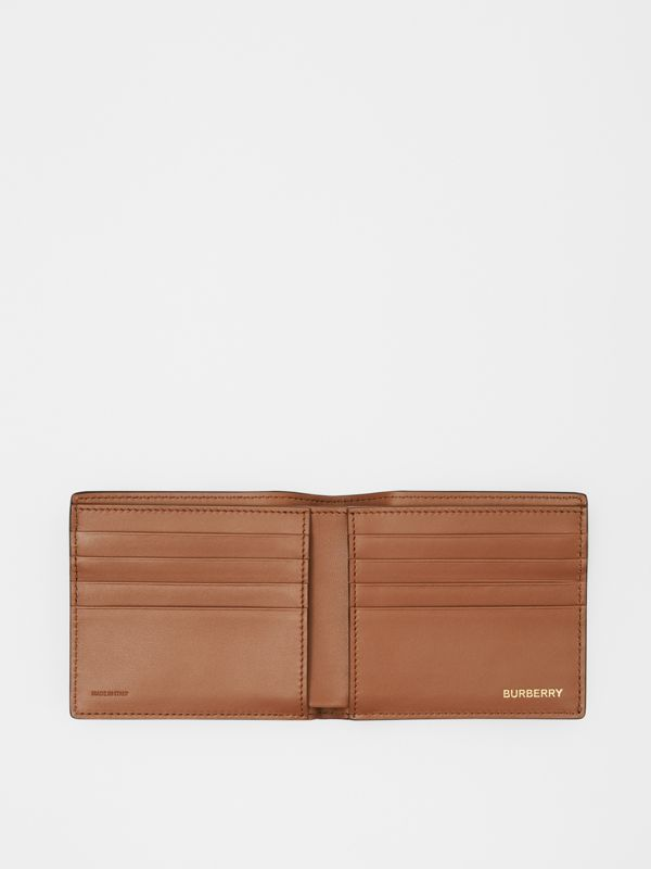 Monogram Motif Leather International Bifold Wallet in Black | Burberry Canada - cell image 2