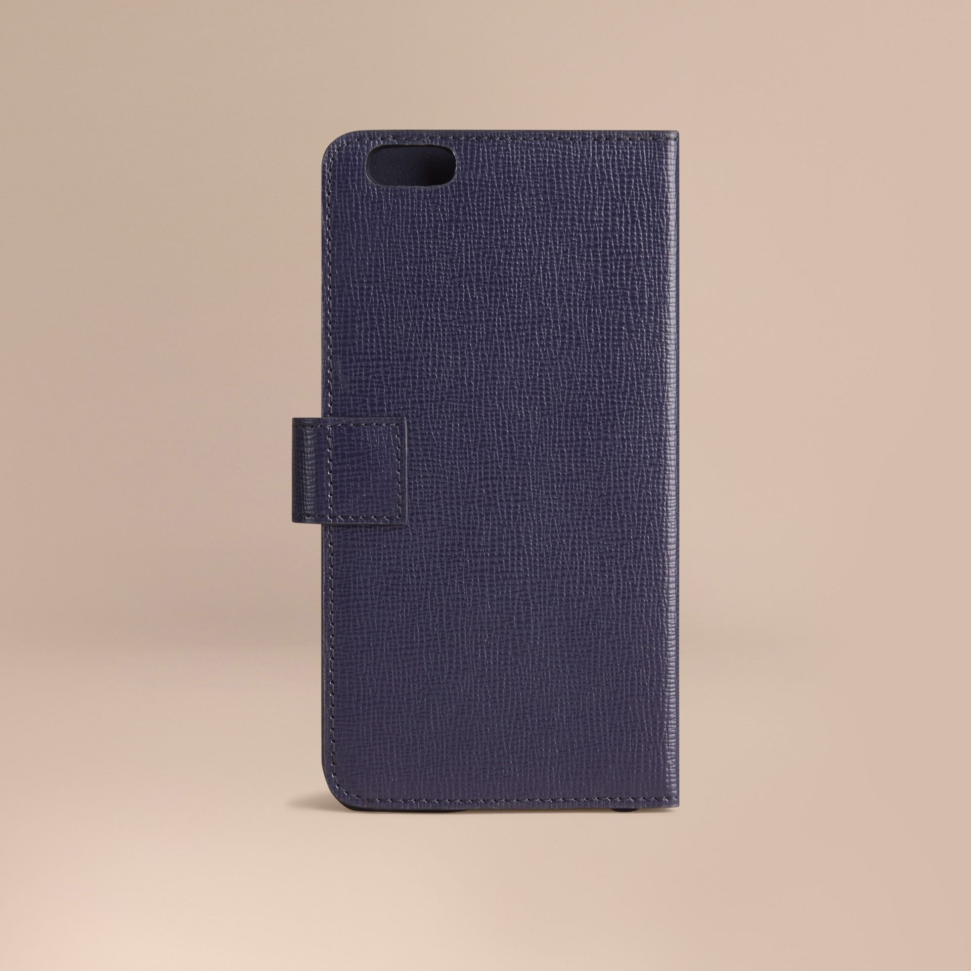 Dark navy London Leather iPhone 6 Plus Flip Case Dark Navy - gallery image 3