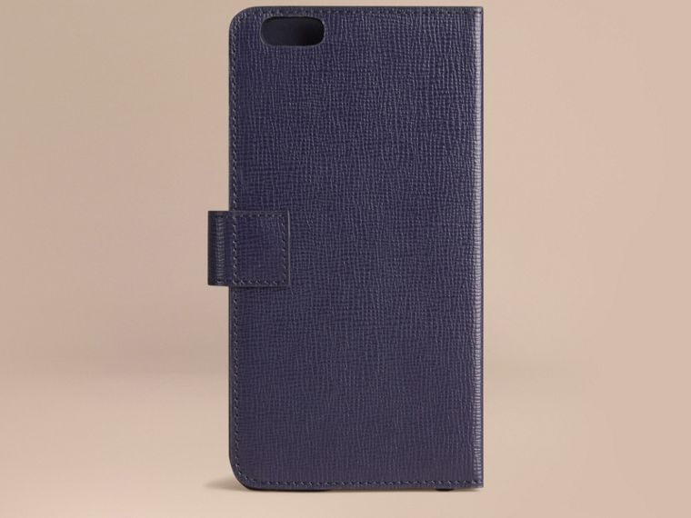 Dark navy London Leather iPhone 6 Plus Flip Case Dark Navy - cell image 2
