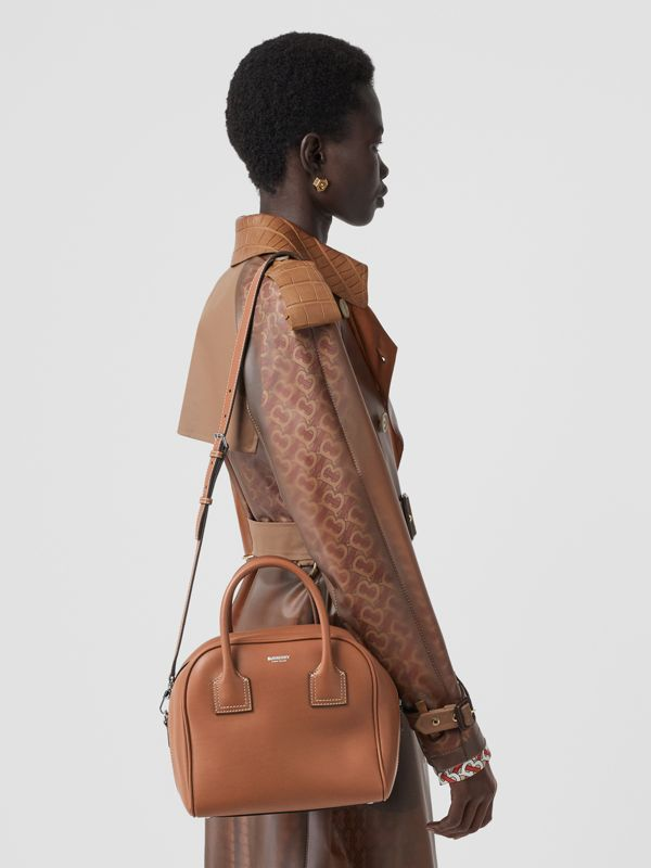 Small Leather Cube Bag in Malt Brown - Women | Burberry - cell image 2