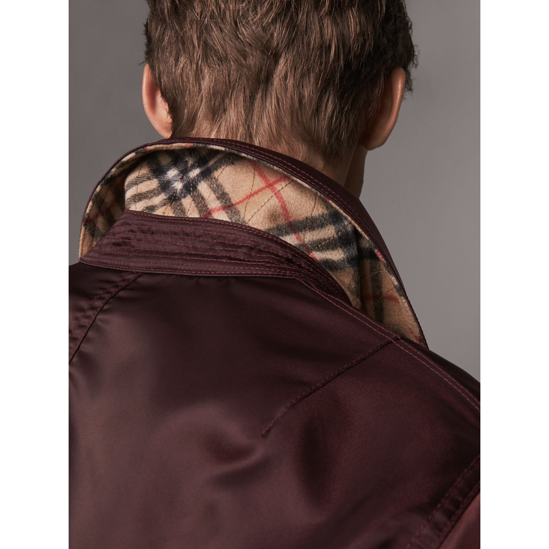 Point Collar Bomber Jacket in Claret - Men | Burberry - gallery image 2