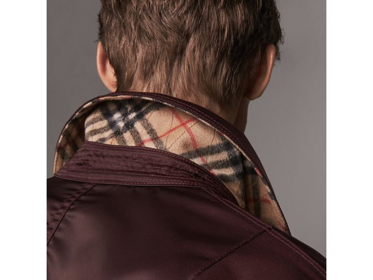 Point Collar Bomber Jacket in Claret - Men | Burberry - cell image 1