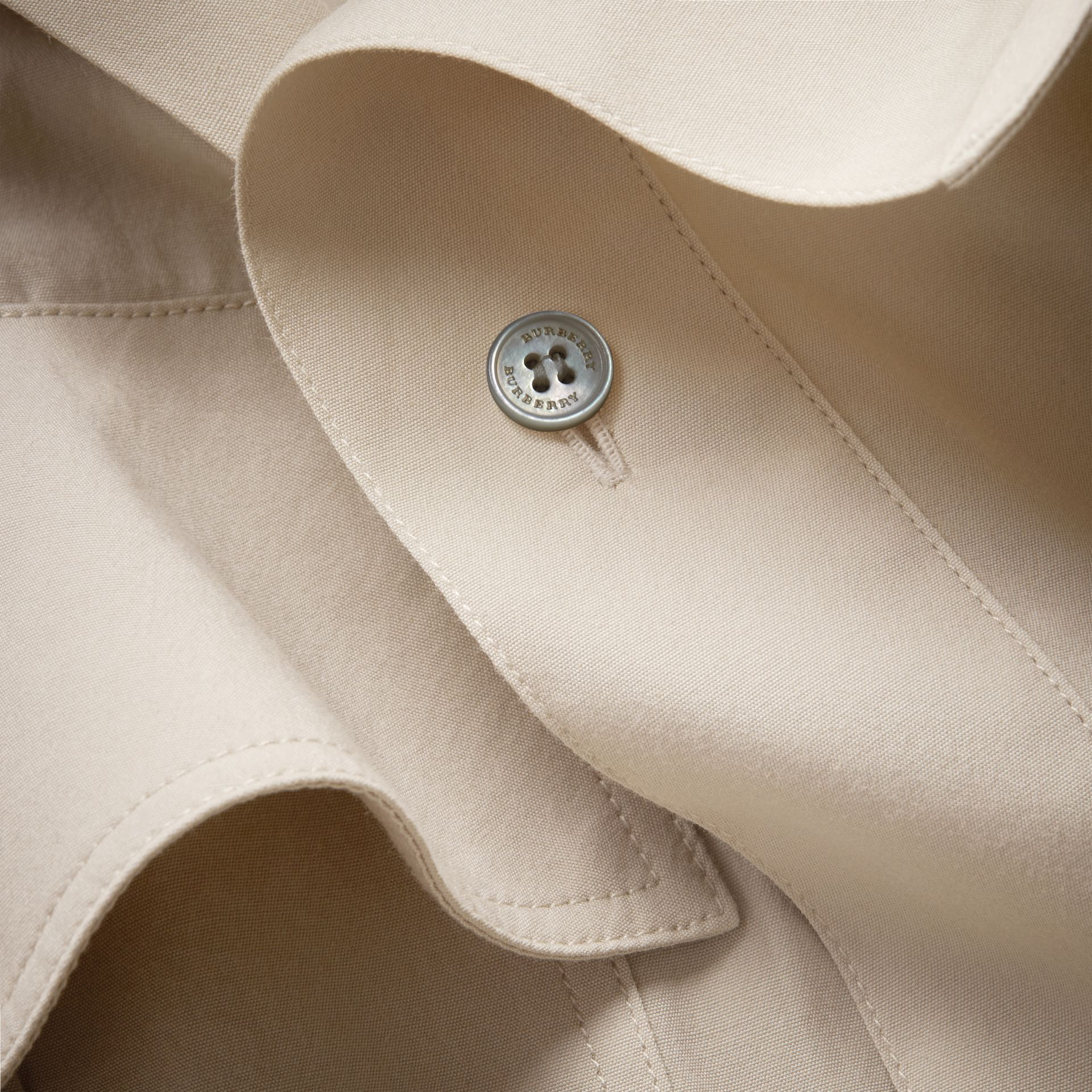 Tie-waist Cotton Shirt Dress in Stone - Women | Burberry Canada - gallery image 2