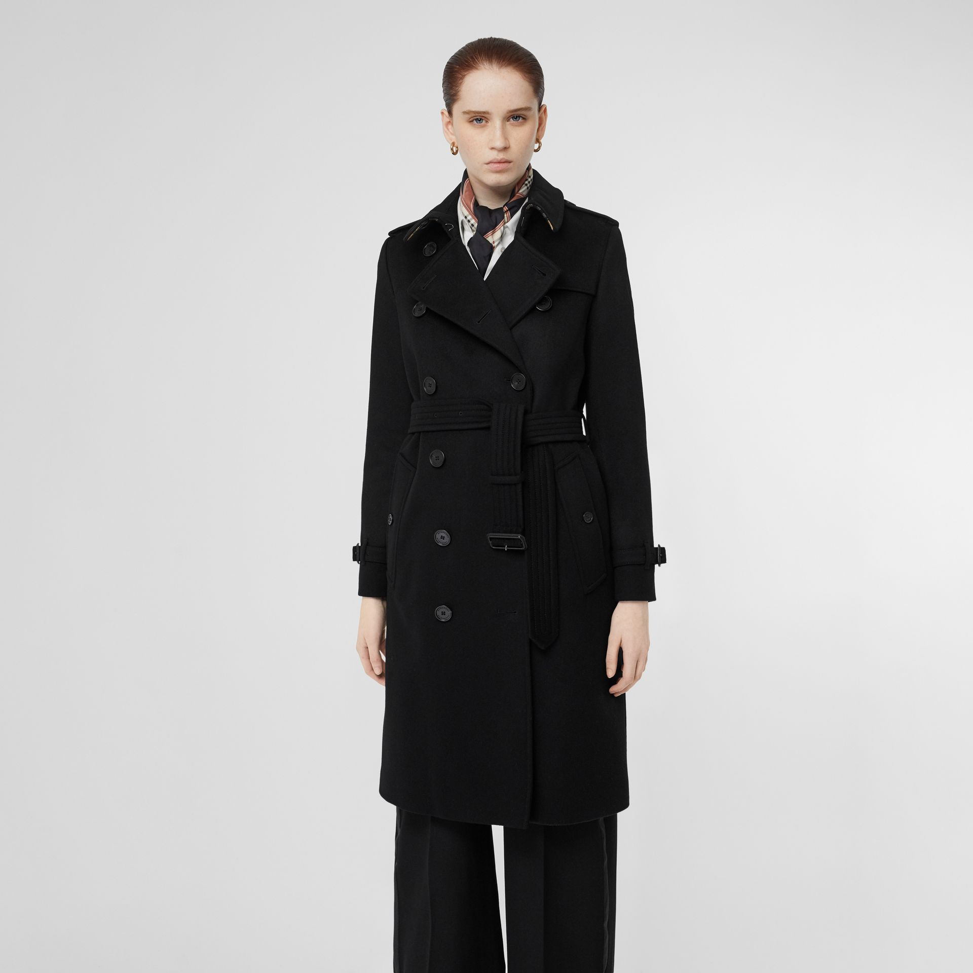Cashmere Trench Coat in Black - Women | Burberry United Kingdom - gallery image 0