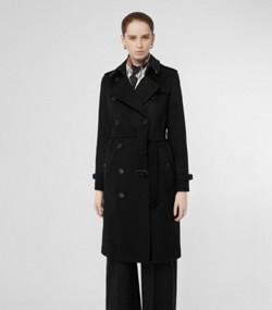 188b0ba7541 Trench coat en cachemir (Negro)