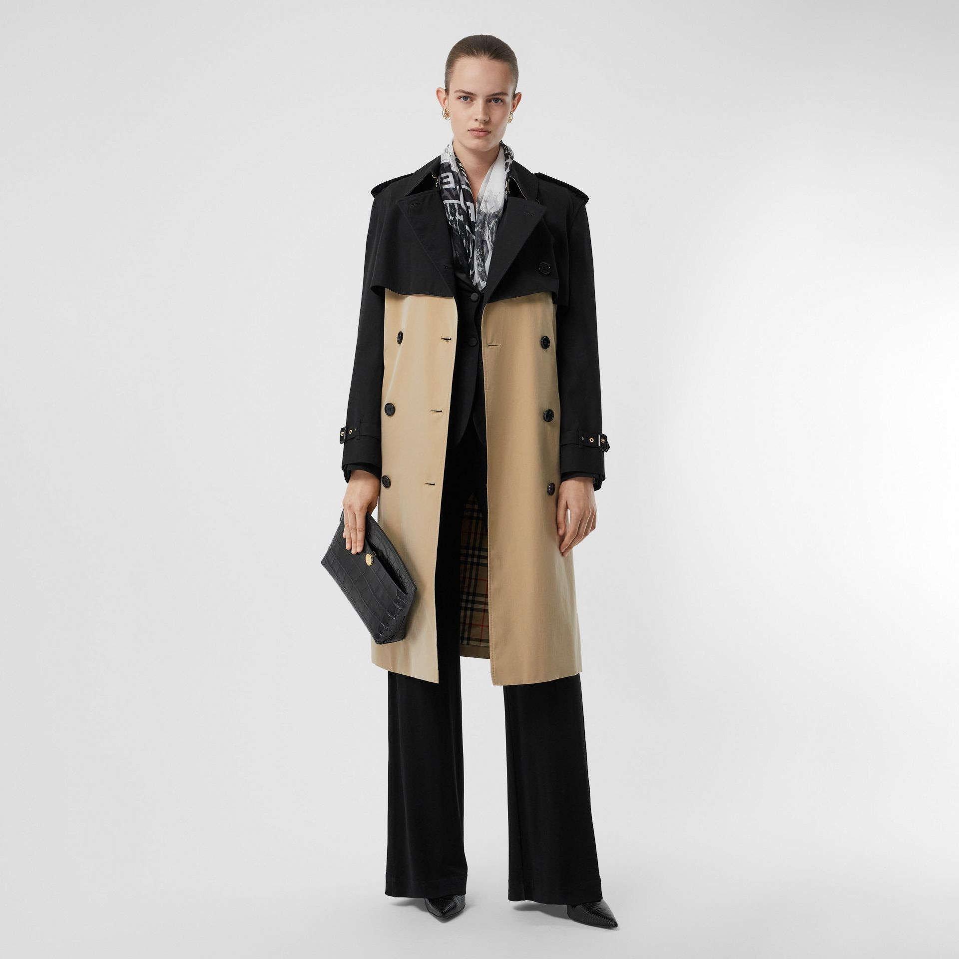Two-tone Reconstructed Trench Coat in Black - Women | Burberry - gallery image 0