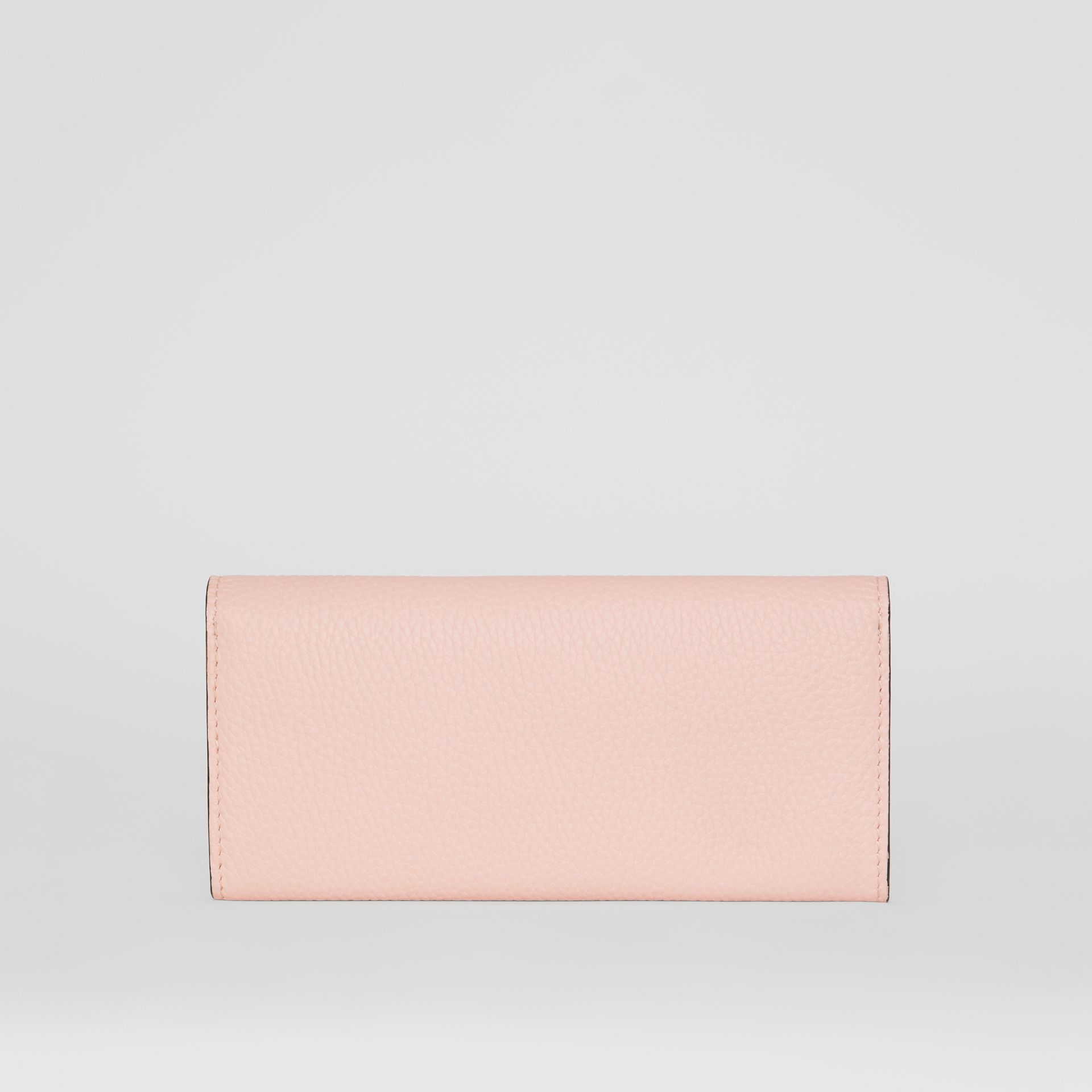 Grainy Leather Continental Wallet in Pale Ash Rose - Women | Burberry - gallery image 4
